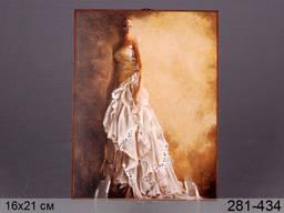 Панно декоративное Девушка в белом платье 16*21 см.