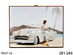 Панно декоративное Ретро авто 16*21 см.