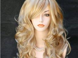 Парик блонд волнистые волосы