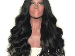 Парик темный волнистые волосы