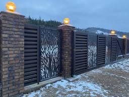 Дизайнерські ворота, хвіртка, огорожа. Виготовлення і монтаж