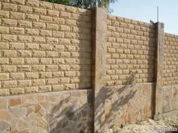Паркет со сколом фасадно стеновой из песчаника