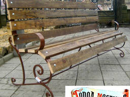 Парковые и садовые лавочки, скамейки из металла кованые