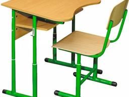 Парта стілець одномістний регул. антис. 4-6 р. г. на круглі