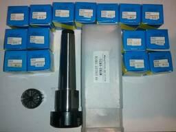 Патрон цанговый MT3 (MK3) ER25 набор цанг ER25 (15 шт) ключ