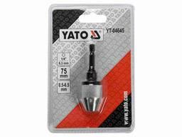 "Патрон для дриля YATO HEX-1/4"" Ø0. 5-6. 5 мм 75 мм"