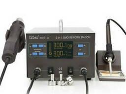 Паяльная станция Bakku BA-8701D цифровая индикация, фен, паяльник (335*278*208) 4, 39 кг