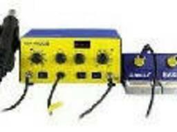 Паяльная станция Bakku BK-603D цифровая индикация, фен, два паяльника (345*270*150). ..