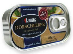Печень трески ТМ Лемберг, Германия, 115 грамм