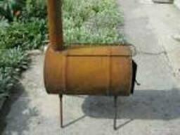 Печка-буржуйка-теплушка из трубы 6мм, доставка по Украина