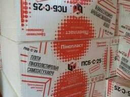 Пенопласт ПСБ-С-25 10 кг/м. куб 10 см (1 х 1 м) Премиум