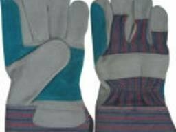 Перчатка хб кожа с 2-м налодонником