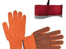 Перчатка х/б трикотаж с точечным покрытием PVC на ладони. ..