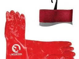 Перчатка маслостойкая х/б трикотаж покрытая PVC, 35 см. ..