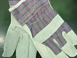 Перчатки арматурщика комбинированные спилок хб