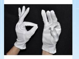 Перчатки для официантов тонкие цвет белый