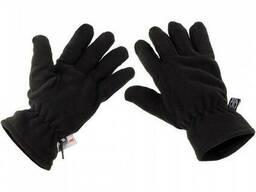 Перчатки флисовые с утеплителем MFH черные