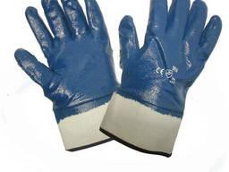 Перчатки х/б нитрил (полное покрытие, твер. манжет)