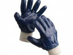Перчатки х/б с полным покрытием нитрилом (вяз. манжет)