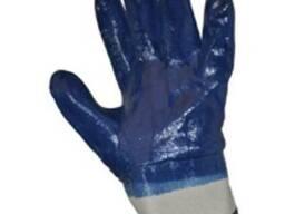Перчатки х-, покр. нитрилом (полн. покр. , тв. манж)