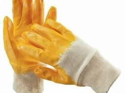 Перчатки хб покр. желтым латексом