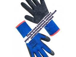 Перчатки хлопок с вспененным неполным латексные покрытием