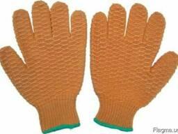Перчатки из акриловой пряжи с ПВХ-сотами