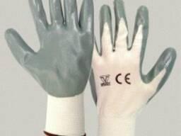 Перчатки из полиамида с покрытием нитрилом (МБС) ладони и па