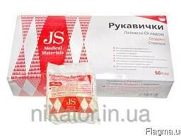 Перчатки JS смотровые, неопудренные, стер. р. L, M, S пара