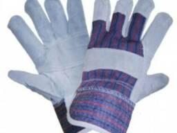 Перчатки комбинированные х/б спилок