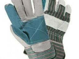 Перчатки комбинированные х/б спилок усиленные