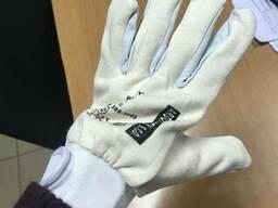 Перчатки комбинированные кожа с трикотажем