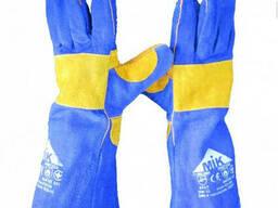 Перчатки краги МИК усиленные на подкладке, длина 40 см