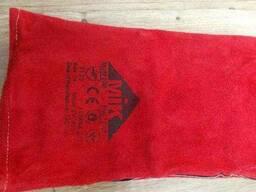 Перчатки краги сварщика кожаные на подкладке (длина 35см)