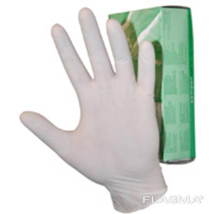 Перчатки латексные тонкие не стирильные.