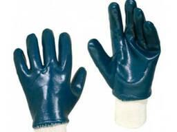 Перчатки МБС (маслобензостойкие) с трикотажным манжетом