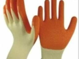 Перчатки нейлоновые покр. латексом