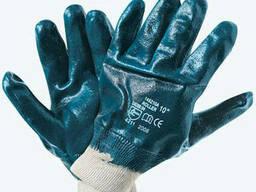 Перчатки нитрильные синие МБС Вязаный манжет