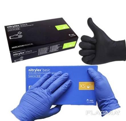 Нитриловые перчатки одноразовые медицинские nitrylex оптом лучшая цена