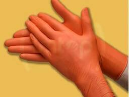 Перчатки нитриловые особо прочные длинные