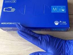 Перчатки нитриловые синие медицинские одноразовые nitrylex
