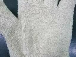 Перчатки пекаря с махрой.