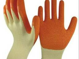 Перчатки покрытые латексом нейлон.