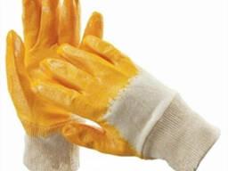 Перчатки х/б трикотаж, неполное нитриловое покрытие