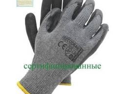 Перчатки рабочие ХБ, покрытые вспененным латексом