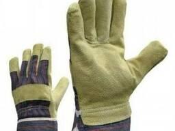 Перчатки рабочие комбинированные спилок/хлопок