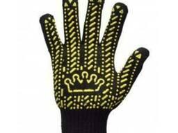 """Перчатки рабочие """"Корона"""" черные"""