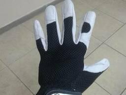 Перчатки рабочие кожа\сетка, модель Flexy Air