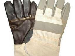 Перчатки рабочие, кожаные