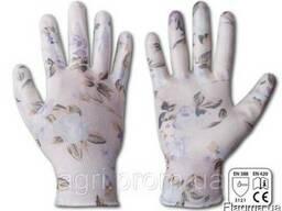 Перчатки рабочие Nitrox Flowers нитрил, размер 6, 7, 8